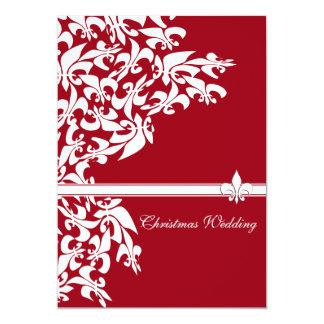 Mariage de Noël de Fleur de Lis Casual Carton D'invitation 12,7 Cm X 17,78 Cm