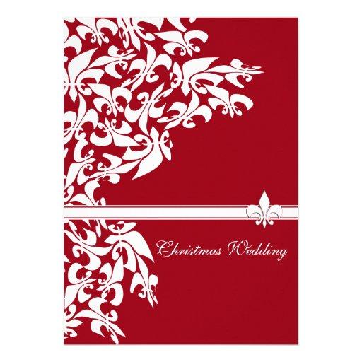 Mariage de Noël de Fleur de Lis Casual Invitation Personnalisable