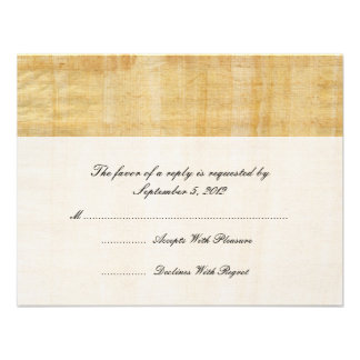 Mariage de papier RSVP de papyrus Invitations