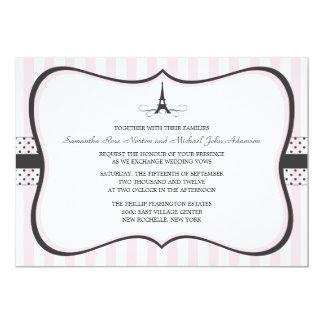 Mariage de Paris de Tour Eiffel Carton D'invitation 12,7 Cm X 17,78 Cm