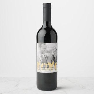 Mariage de photo de l'or XOXO ou étiquette de vin