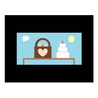 Mariage de pique-nique carte postale