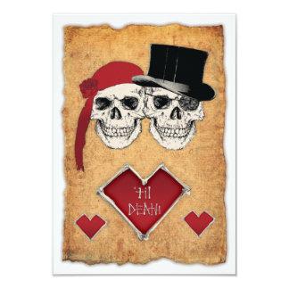 mariage de pirate carton d'invitation 8,89 cm x 12,70 cm