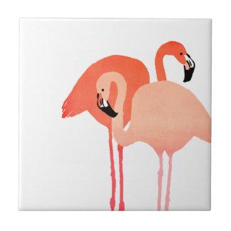 Mariage de plage rose de flamants petit carreau carré