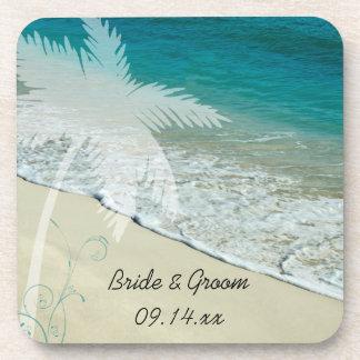 Mariage de plage tropical sous-bock