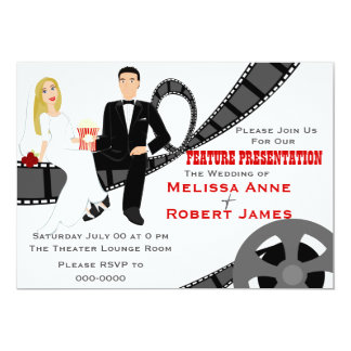Mariage de présentation de caractéristique carton d'invitation  12,7 cm x 17,78 cm