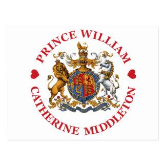 Mariage de prince William et Catherine Middleton Carte Postale