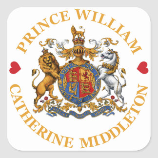 Mariage de prince William et Catherine Middleton Sticker Carré