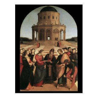 Mariage de Raphael de la carte postale de Vierge