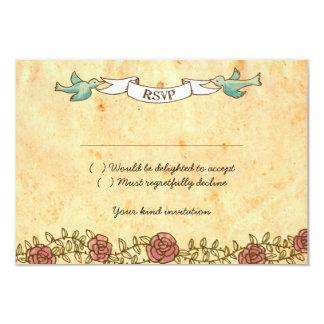 Mariage de rock (roses) RSVP avec des enveloppes Carton D'invitation 8,89 Cm X 12,70 Cm