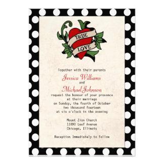 Mariage de rockabilly cartons d'invitation