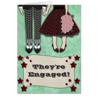 Mariage de rockabilly, faire-part de fiançailles carte de vœux