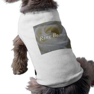 Mariage de rose blanc t-shirt pour chien