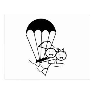 Mariage de saut de ciel carte postale