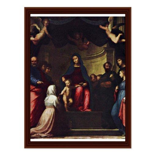 Mariage de St Catherine par Bartolomeo ATF Cartes Postales