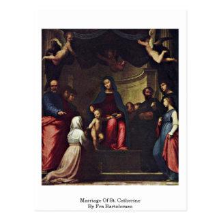 Mariage de St Catherine par Fra Bartolomeo Carte Postale