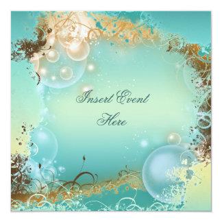 Mariage de thème de plage - partie élégante carton d'invitation  13,33 cm