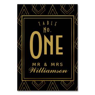 Mariage decoTable de nombre de table de carte