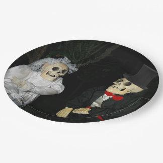 Mariage des morts assiettes en papier