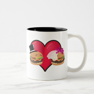 Mariage d'hamburger -- Jeu de mots d'ASL Tasse 2 Couleurs
