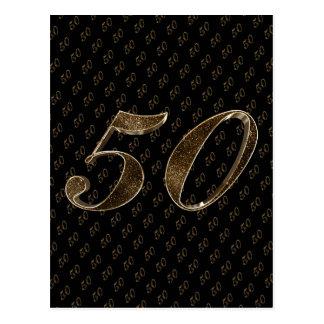 Mariage d'or anniversaire noir d'or du numéro 50 cartes postales