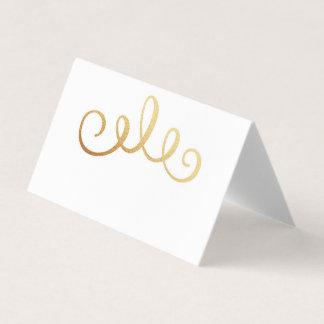 Mariage d'or. Carte minimaliste d'allocation des Carte De Placement