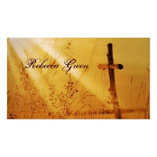 Mariage d'or vintage romantique de croix de pays carte de visite
