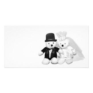Mariage d'ours de nounours photocarte personnalisée