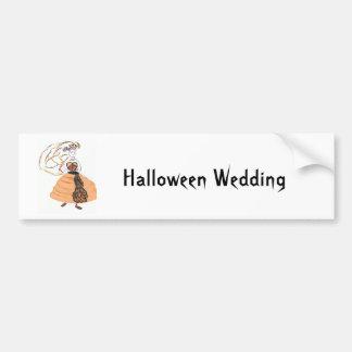 Mariage/économies de Halloween la date Autocollant De Voiture