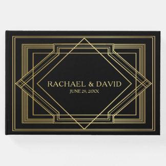 Mariage élégant de style de Gatsby d'art déco Livre D'or