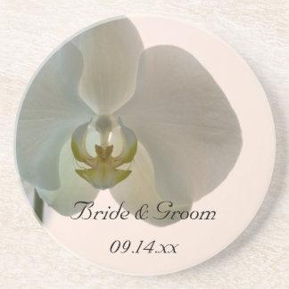 Mariage élégant d'orchidée dessous de verre