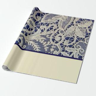 Mariage élégant en ivoire de deux tons de bleu papiers cadeaux