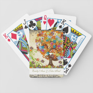 Mariage enchanté de branche latérale de forêt jeu de cartes