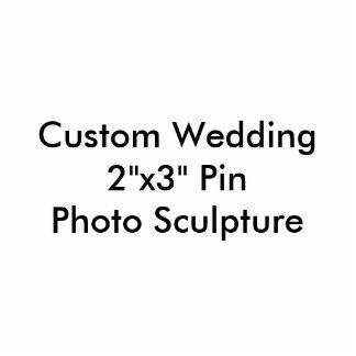 """Mariage fait sur commande 2"""""""" sculpture en photo badge photo sculpture"""