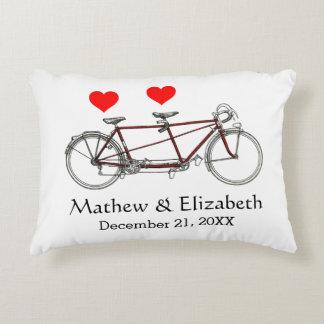 Mariage fait sur commande de bicyclette tandem coussins décoratifs
