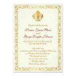 mariage Fleur-De-lis orienté Carton D'invitation 12,7 Cm X 17,78 Cm