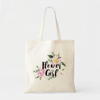 Mariage floral d'aquarelle de demoiselle de sacs de toile