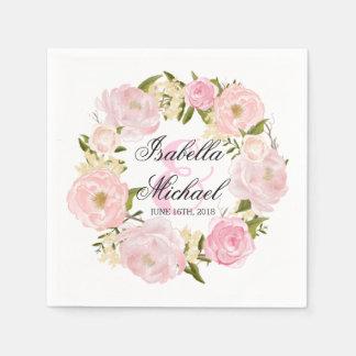 Mariage floral de guirlande de Penoy Serviette Jetable