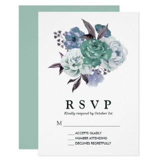 Mariage floral romantique chic de ressort carton d'invitation 8,89 cm x 12,70 cm