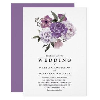 Mariage floral romantique élégant de ressort carton d'invitation  12,7 cm x 17,78 cm