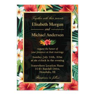 Mariage formel de ketmie de cadre floral vintage carton d'invitation  12,7 cm x 17,78 cm