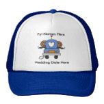Mariage gai masculin à customiser casquettes