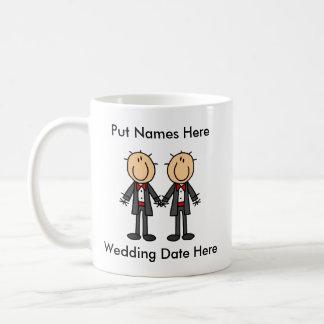 Mariage gai masculin à customiser mug