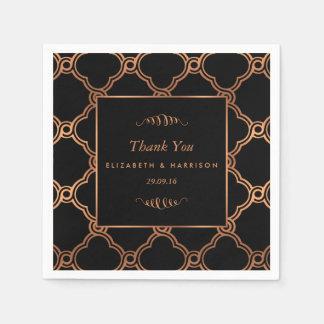 Mariage géométrique vintage de Gatsby d'art déco Serviette En Papier
