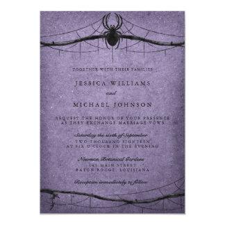 Mariage gothique de Halloween d'araignée Carton D'invitation 12,7 Cm X 17,78 Cm