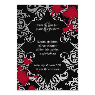 Mariage gothique de Halloween de vampire Carton D'invitation 12,7 Cm X 17,78 Cm