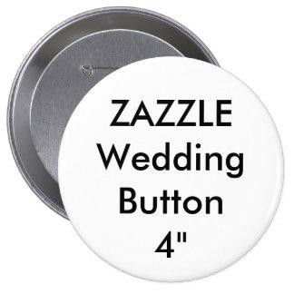 """Mariage grand 4"""" fait sur commande Pin rond de Badge"""