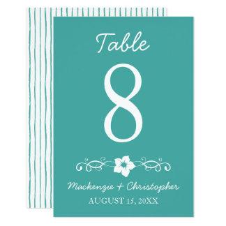 Mariage hawaïen de ketmie - carte de Tableau Carton D'invitation 8,89 Cm X 12,70 Cm