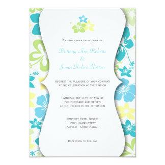 Mariage hawaïen ou invitations nuptiales de douche