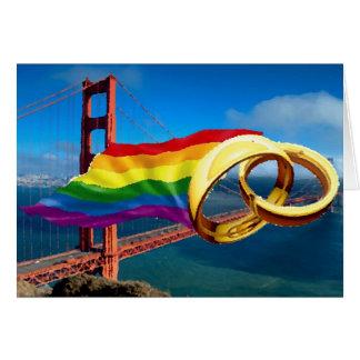 Mariage homosexuel San Francisco Carte De Vœux